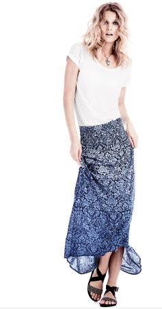 H&M long skirt graphic print 24,95 euro