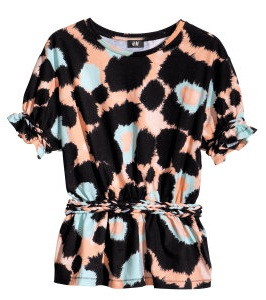 Colorful leopard print H&M 24,95 euro